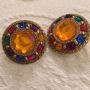 70s big disco clip earrings studio 54 worthy!
